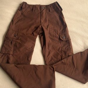 Cool Retro brown cargo pants size small ( 26 waist)or smaller